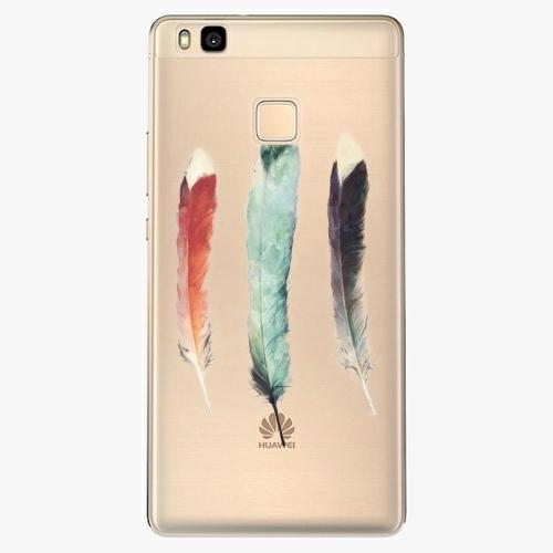 Silikonové pouzdro iSaprio - Three Feathers na mobil Huawei P9 Lite
