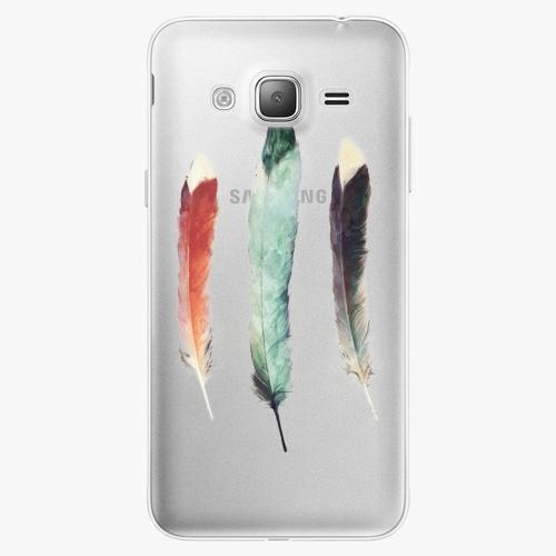Silikonové pouzdro iSaprio - Three Feathers na mobil Samsung Galaxy J3 2016