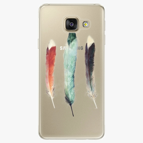 Silikonové pouzdro iSaprio - Three Feathers na mobil Samsung Galaxy A5 2016