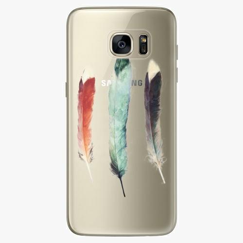 Silikonové pouzdro iSaprio - Three Feathers na mobil Samsung Galaxy S7 Edge