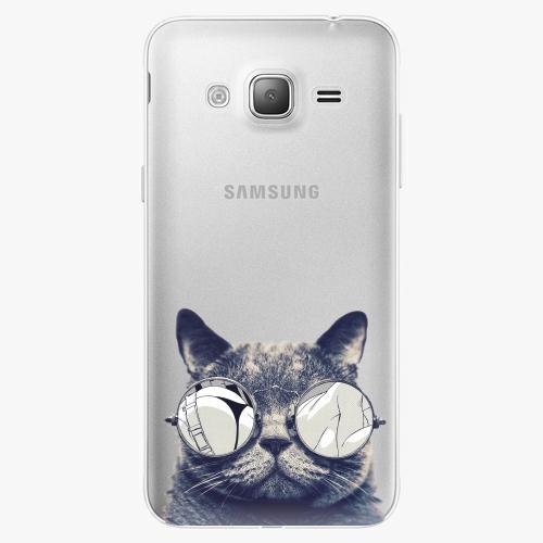 Silikonové pouzdro iSaprio - Crazy Cat 01 na mobil Samsung Galaxy J3 2016