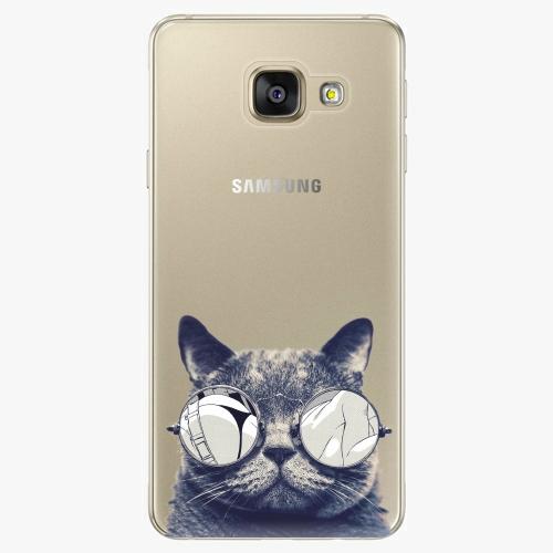 Silikonové pouzdro iSaprio - Crazy Cat 01 na mobil Samsung Galaxy A5 2016