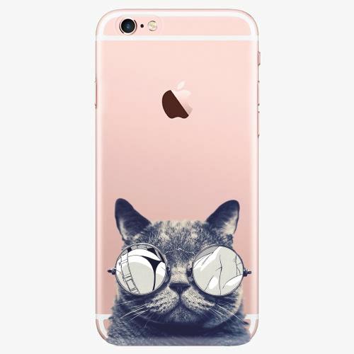 Silikonové pouzdro iSaprio - Crazy Cat 01 na mobil Apple iPhone 7 Plus