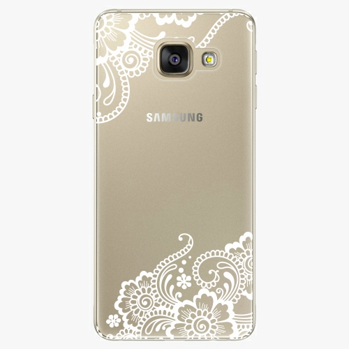 Silikonové pouzdro iSaprio - White Lace 02 na mobil Samsung Galaxy A5 2016