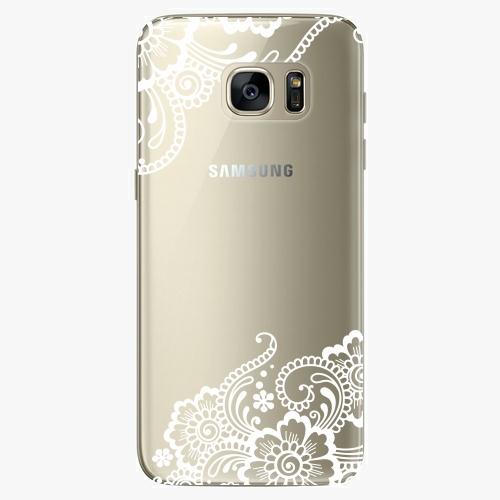 Silikonové pouzdro iSaprio - White Lace 02 na mobil Samsung Galaxy S7 Edge