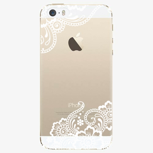 Silikonové pouzdro iSaprio - White Lace 02 na mobil Apple iPhone 5/ 5S/ SE