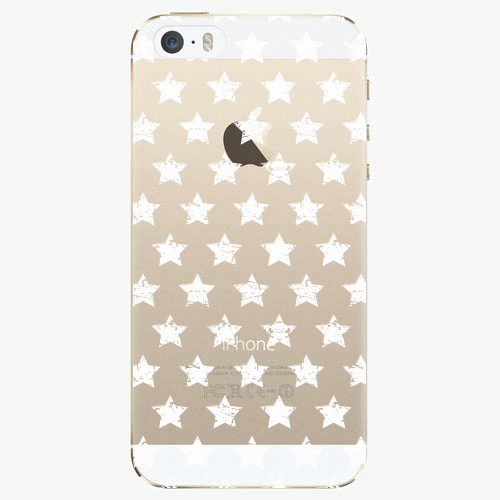 Silikonové pouzdro iSaprio - Stars Pattern white na mobil Apple iPhone 5/ 5S/ SE