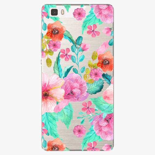 Silikonové pouzdro iSaprio - Flower Pattern 01 na mobil Huawei P8 Lite