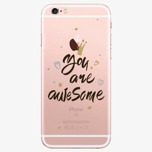 Silikonové pouzdro iSaprio - You Are Awesome black na mobil Apple iPhone 7 Plus