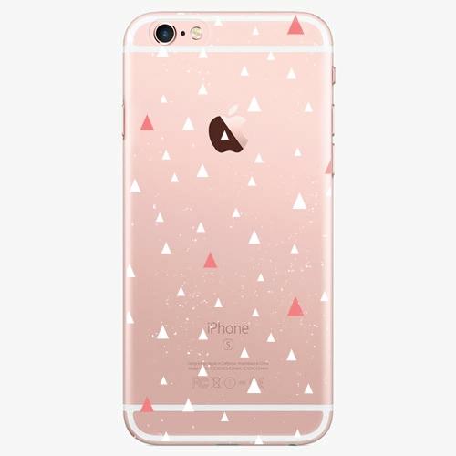 Silikonové pouzdro iSaprio - Abstract Triangles 02 white na mobil Apple iPhone 7 Plus