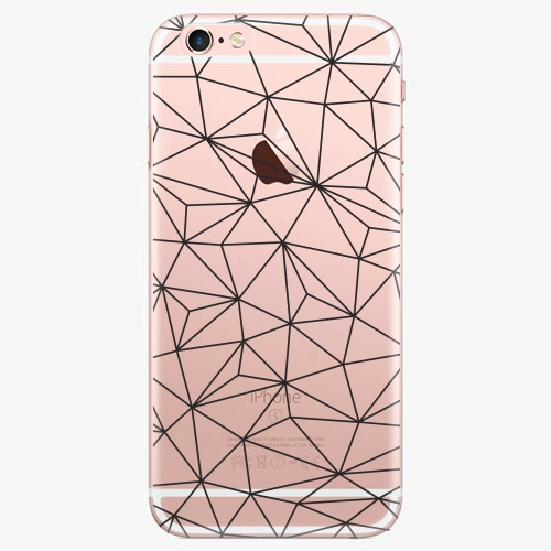 Silikonové pouzdro iSaprio - Abstract Triangles 03 black na mobil Apple iPhone 7 Plus