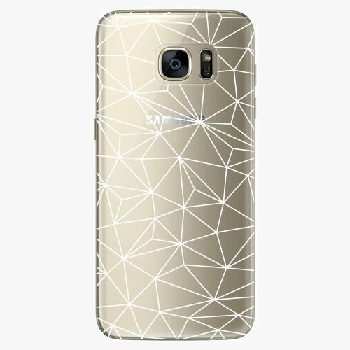 Silikonové pouzdro iSaprio - Abstract Triangles 03 white na mobil Samsung Galaxy S7 Edge