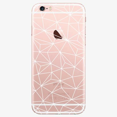 Silikonové pouzdro iSaprio - Abstract Triangles 03 white na mobil Apple iPhone 7 Plus