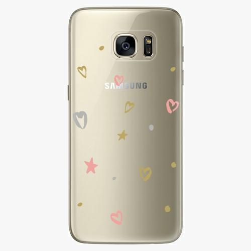 Silikonové pouzdro iSaprio - Lovely Pattern na mobil Samsung Galaxy S7 Edge (Silikonový obal, pouzdro, kryt iSaprio s motivem Lovely Pattern na mobilní telefon Samsung Galaxy S7 Edge)