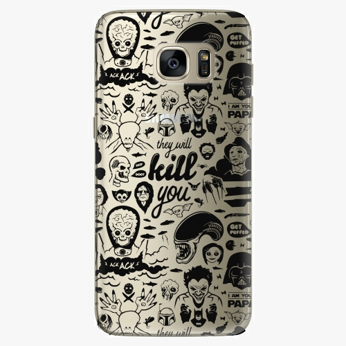 Silikonové pouzdro iSaprio - Comics 01 black na mobil Samsung Galaxy S7 Edge