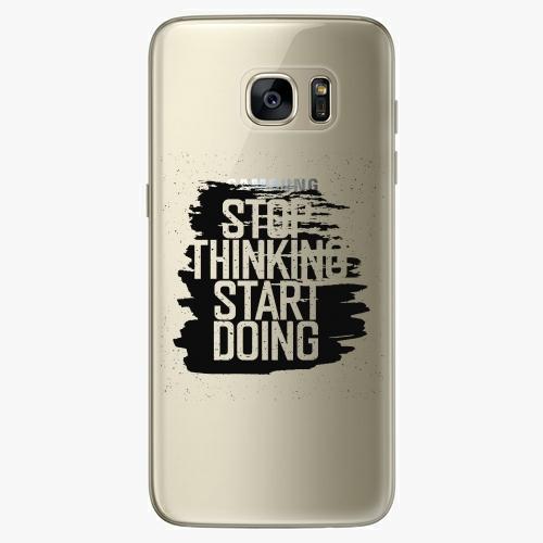 Silikonové pouzdro iSaprio - Start Doing black na mobil Samsung Galaxy S7 Edge