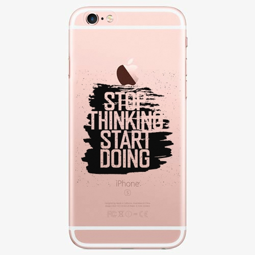 Silikonové pouzdro iSaprio - Start Doing black na mobil Apple iPhone 7 Plus