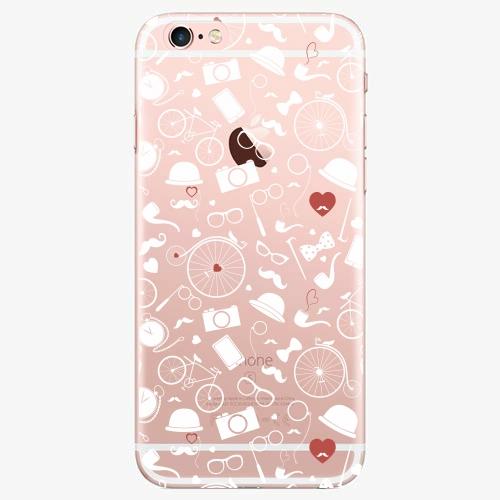 Silikonové pouzdro iSaprio - Vintage Pattern 01 white na mobil Apple iPhone 7 Plus