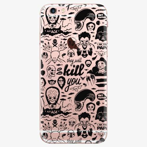 Silikonové pouzdro iSaprio - Comics 01 black na mobil Apple iPhone 7 Plus