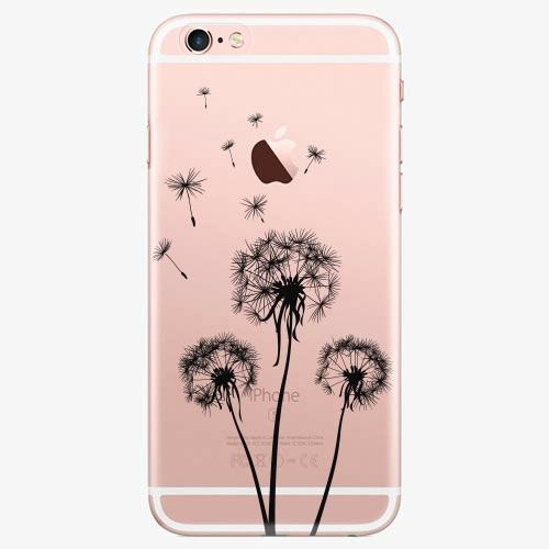 Silikonové pouzdro iSaprio - Three Dandelions black na mobil Apple iPhone 7 Plus
