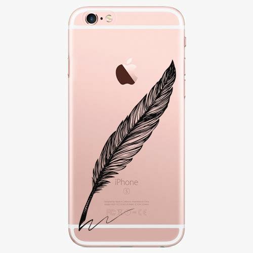 Silikonové pouzdro iSaprio - Writing By Feather black na mobil Apple iPhone 7 Plus