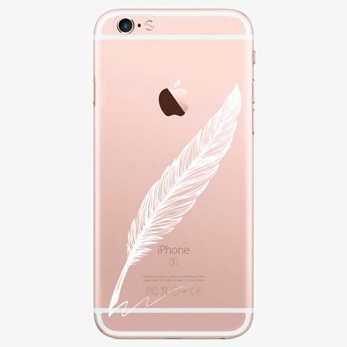 Silikonové pouzdro iSaprio - Writing By Feather white na mobil Apple iPhone 7 Plus