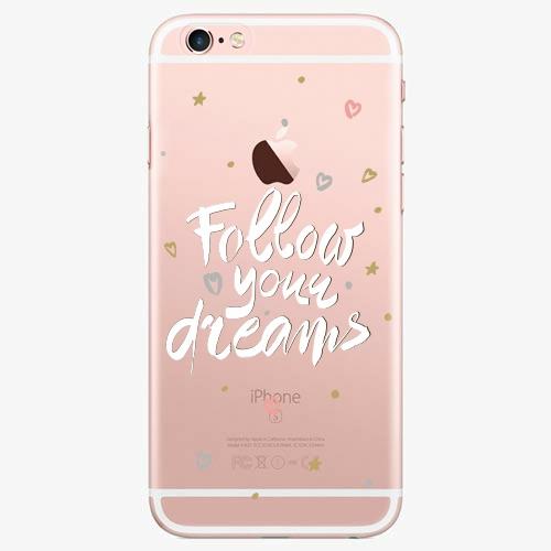 Silikonové pouzdro iSaprio - Follow Your Dreams white na mobil Apple iPhone 7 Plus