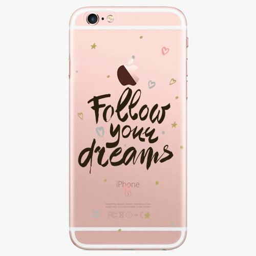 Silikonové pouzdro iSaprio - Follow Your Dreams black na mobil Apple iPhone 7 Plus