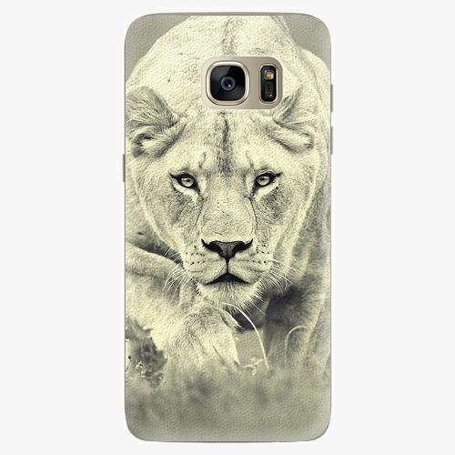 Silikonové pouzdro iSaprio - Lioness 01 na mobil Samsung Galaxy S7 Edge (Silikonový obal, pouzdro, kryt iSaprio s motivem Lioness 01 na mobilní telefon Samsung Galaxy S7 Edge)