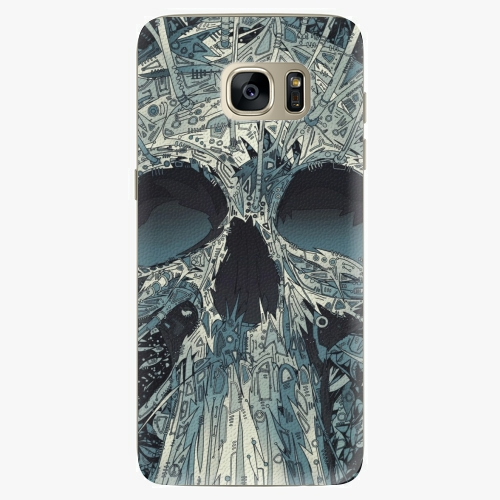 Silikonové pouzdro iSaprio - Abstract Skull na mobil Samsung Galaxy S7 Edge (Silikonový obal, pouzdro, kryt iSaprio s motivem Abstract Skull na mobilní telefon Samsung Galaxy S7 Edge)