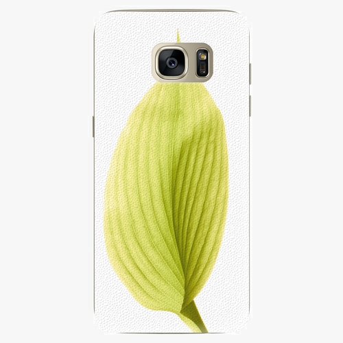 Silikonové pouzdro iSaprio - Green Leaf na mobil Samsung Galaxy S7 Edge (Silikonový obal, pouzdro, kryt iSaprio s motivem Green Leaf na mobilní telefon Samsung Galaxy S7 Edge)