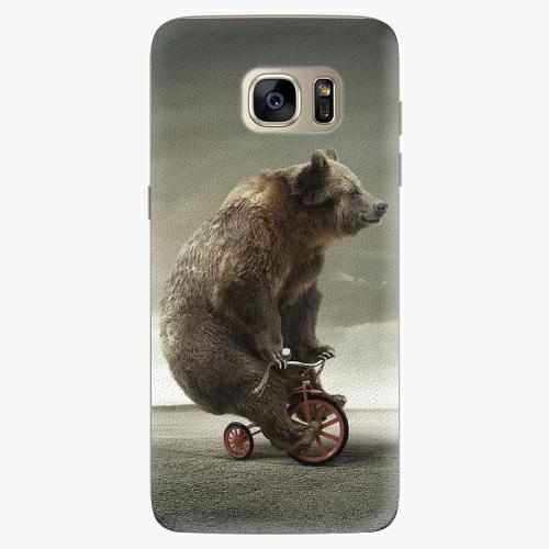 Silikonové pouzdro iSaprio - Bear 01 na mobil Samsung Galaxy S7 Edge (Silikonový obal, pouzdro, kryt iSaprio s motivem Bear 01 na mobilní telefon Samsung Galaxy S7 Edge)