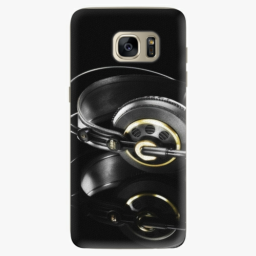 Silikonové pouzdro iSaprio - Headphones 02 na mobil Samsung Galaxy S7 Edge (Silikonový obal, pouzdro, kryt iSaprio s motivem Headphones 02 na mobilní telefon Samsung Galaxy S7 Edge)