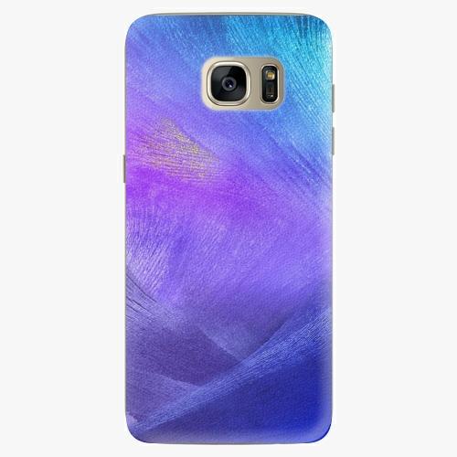 Silikonové pouzdro iSaprio - Purple Feathers na mobil Samsung Galaxy S7 Edge (Silikonový obal, pouzdro, kryt iSaprio s motivem Purple Feathers na mobilní telefon Samsung Galaxy S7 Edge)