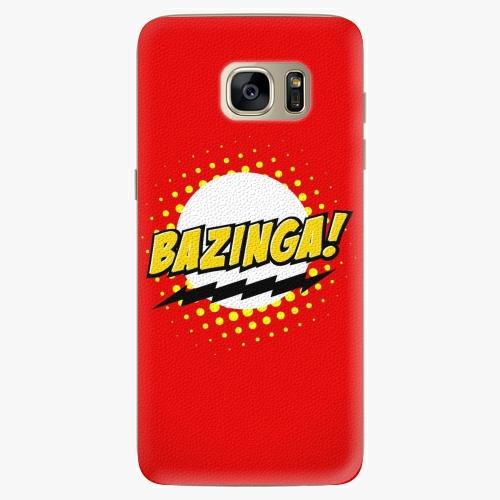Silikonové pouzdro iSaprio - Bazinga 01 na mobil Samsung Galaxy S7 Edge (Silikonový obal, pouzdro, kryt iSaprio s motivem Bazinga 01 na mobilní telefon Samsung Galaxy S7 Edge)