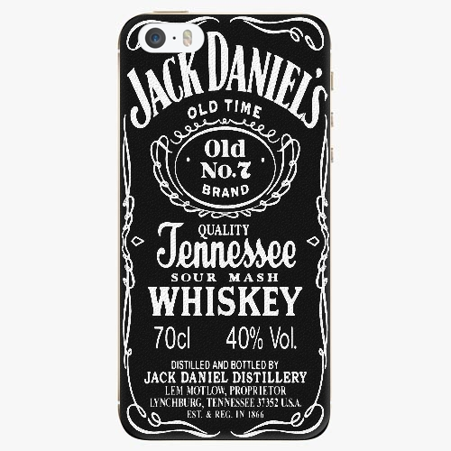 Silikonové pouzdro iSaprio - Jack Daniels na mobil Apple iPhone 5/ 5S/ SE