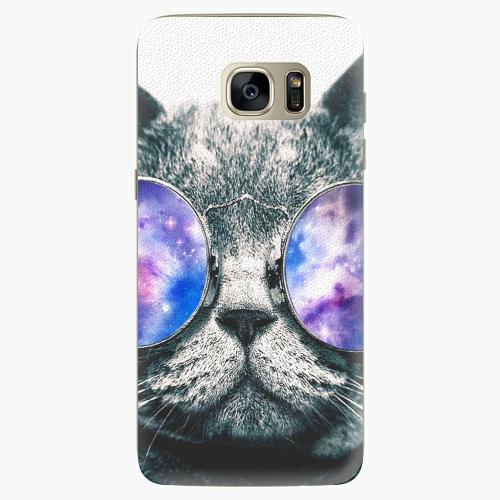 Silikonové pouzdro iSaprio - Galaxy Cat na mobil Samsung Galaxy S7 (Silikonový obal, pouzdro, kryt iSaprio s motivem Galaxy Cat na mobilní telefon Samsung Galaxy S7)