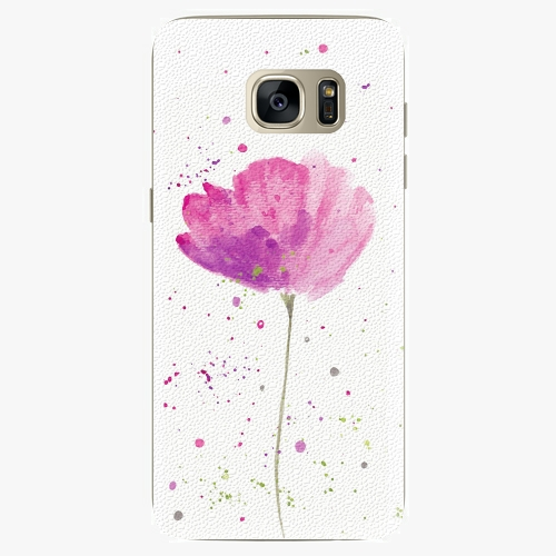 Silikonové pouzdro iSaprio - Poppies na mobil Samsung Galaxy S7 Edge (Silikonový obal, pouzdro, kryt iSaprio s motivem Poppies na mobilní telefon Samsung Galaxy S7 Edge)