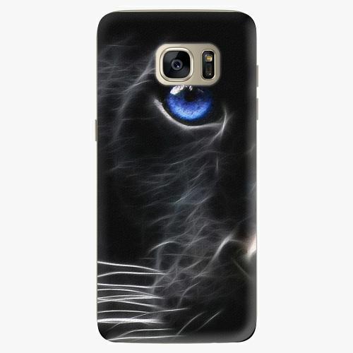 Silikonové pouzdro iSaprio - Black Puma na mobil Samsung Galaxy S7 Edge (Silikonový obal, pouzdro, kryt iSaprio s motivem Black Puma na mobilní telefon Samsung Galaxy S7 Edge)