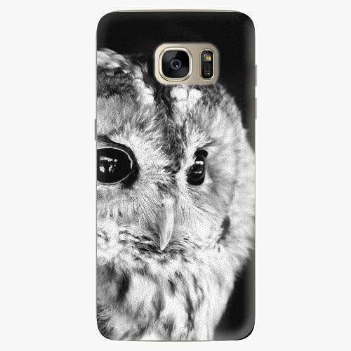 Silikonové pouzdro iSaprio - BW Owl na mobil Samsung Galaxy S7 Edge (Silikonový obal, pouzdro, kryt iSaprio s motivem BW Owl na mobilní telefon Samsung Galaxy S7 Edge)