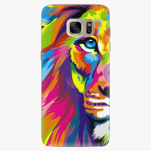 Silikonové pouzdro iSaprio - Rainbow Lion na mobil Samsung Galaxy S7 Edge (Silikonový obal, pouzdro, kryt iSaprio s motivem Rainbow Lion na mobilní telefon Samsung Galaxy S7 Edge)