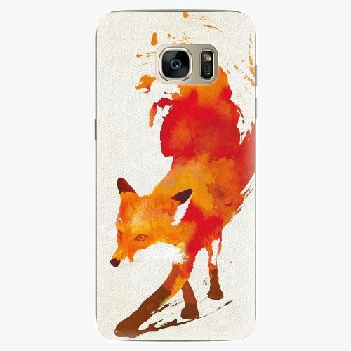Silikonové pouzdro iSaprio - Fast Fox na mobil Samsung Galaxy S7 Edge (Silikonový obal, pouzdro, kryt iSaprio s motivem Fast Fox na mobilní telefon Samsung Galaxy S7 Edge)