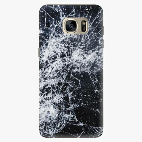 Silikonové pouzdro iSaprio - Cracked na mobil Samsung Galaxy S7 Edge (Silikonový obal, pouzdro, kryt iSaprio s motivem Cracked na mobilní telefon Samsung Galaxy S7 Edge)