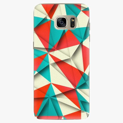 Silikonové pouzdro iSaprio - Origami Triangles na mobil Samsung Galaxy S7 Edge (Silikonový obal, pouzdro, kryt iSaprio s motivem Origami Triangles na mobilní telefon Samsung Galaxy S7 Edge)