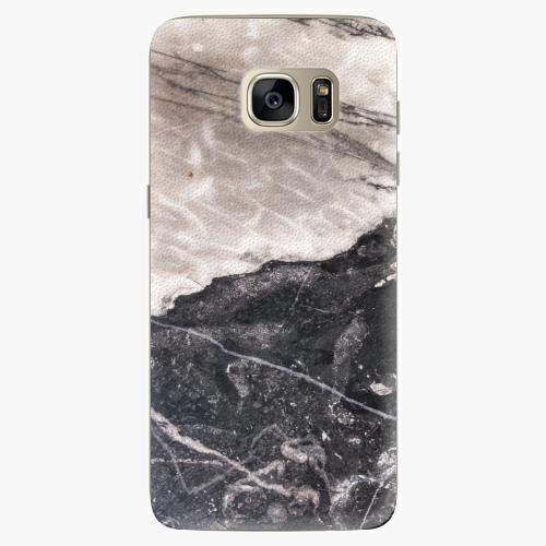 Silikonové pouzdro iSaprio - BW Marble na mobil Samsung Galaxy S7 Edge (Silikonový obal, pouzdro, kryt iSaprio s motivem BW Marble na mobilní telefon Samsung Galaxy S7 Edge)