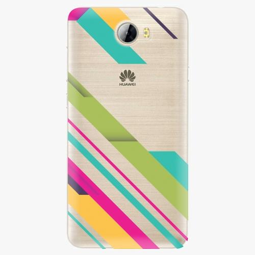 Silikonové pouzdro iSaprio - Color Stripes 03 na mobil Huawei Y5 II / Y6 II Compact