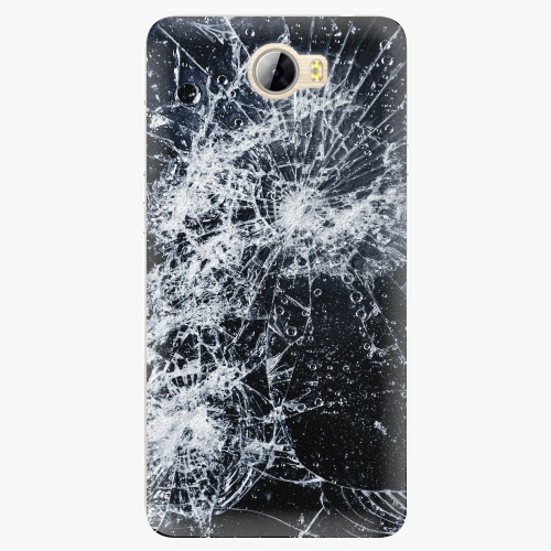 Silikonové pouzdro iSaprio - Cracked na mobil Huawei Y5 II / Y6 II Compact