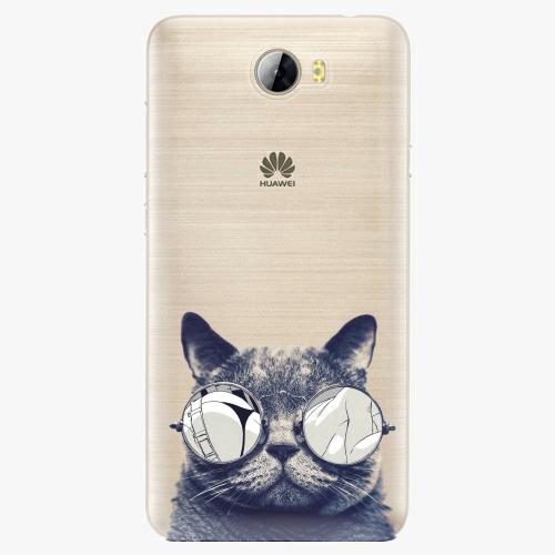 Silikonové pouzdro iSaprio - Crazy Cat 01 na mobil Huawei Y5 II / Y6 II Compact