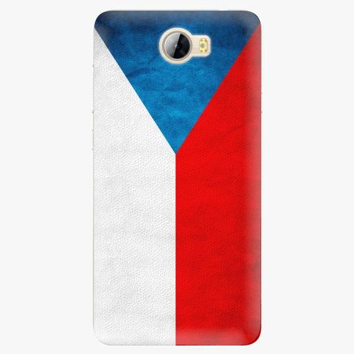 Silikonové pouzdro iSaprio - Czech Flag na mobil Huawei Y5 II / Y6 II Compact
