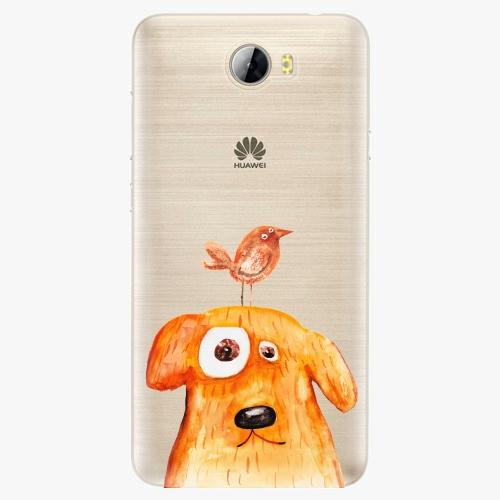Silikonové pouzdro iSaprio - Dog And Bird na mobil Huawei Y5 II / Y6 II Compact